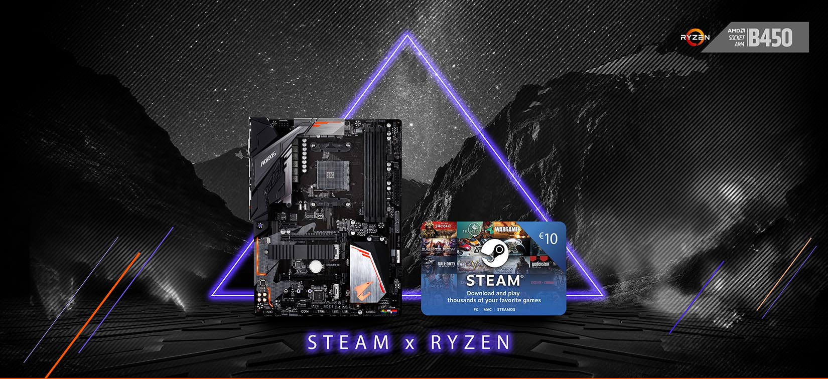 Starting from the 1st of February and finishing on the 31st March 2019, GIGABYTE will gift customers STEAM wallet codes when they buy select GIGABYTE AM4 ...