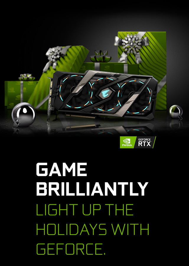 game brilliantly light up the holidays with Geforce